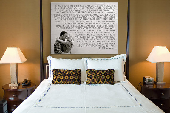 perfect wedding gift - wedding canvas