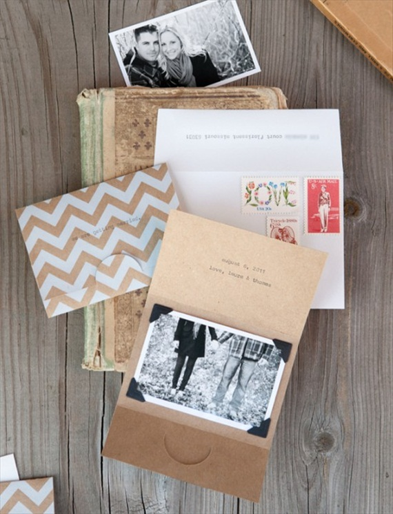 kraft paper save the date