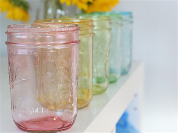 how to paint a mason jar