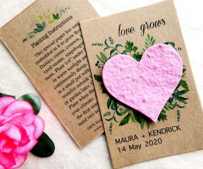 flower seed wedding favors