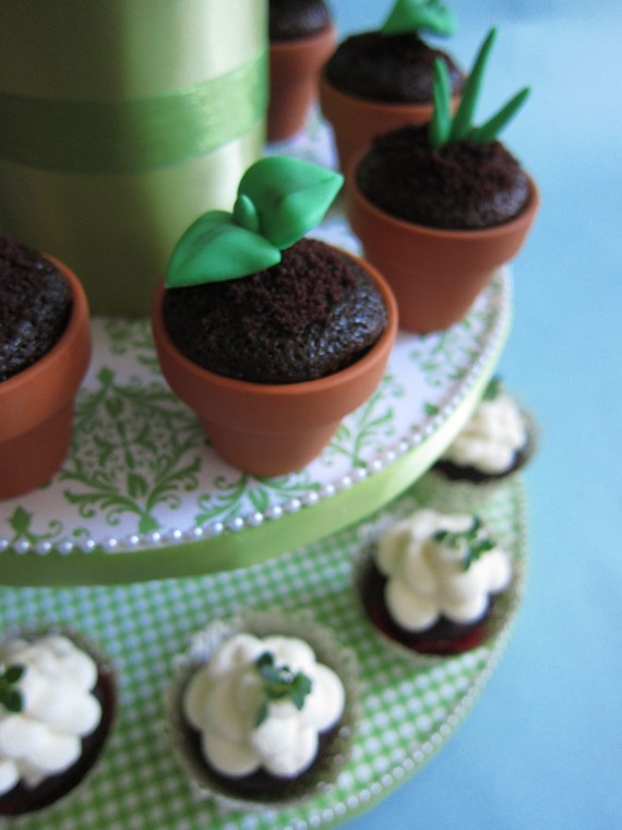diy wedding cupcakes with sprout