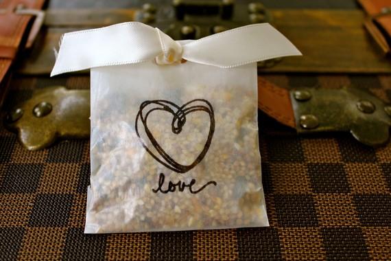 wedding bird seed bags
