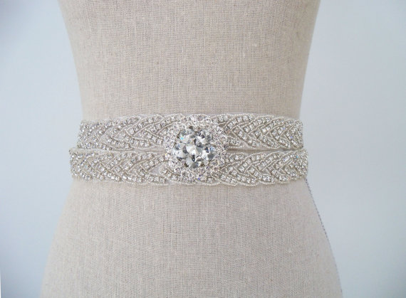 handmade wedding dress sash