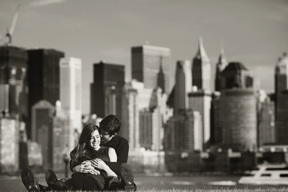Liberty State Park Engagement Photographer