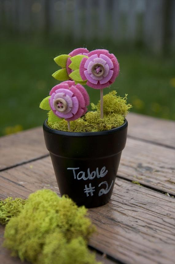 diy chalkboard flower pots