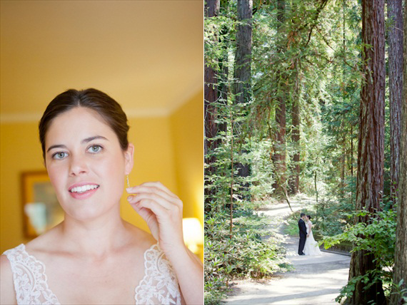 red wood forest wedding