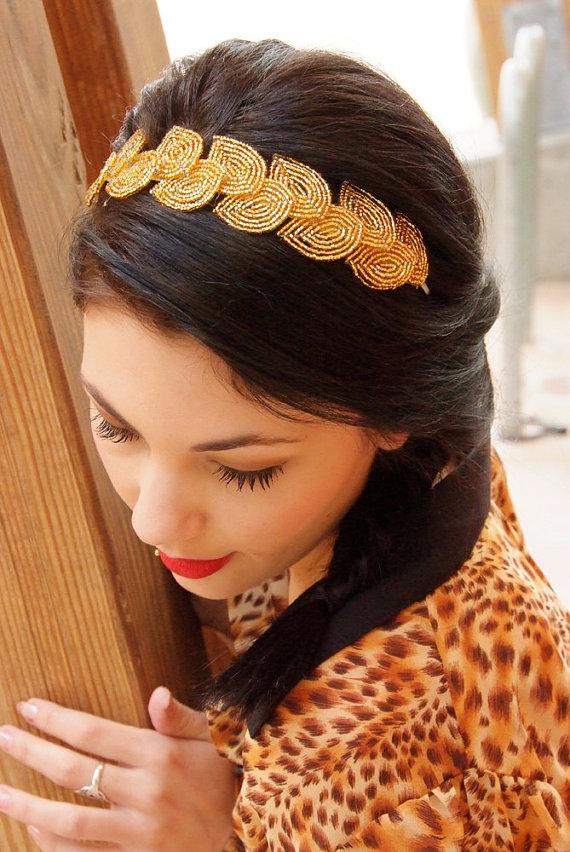 grecian wedding headpiece title=