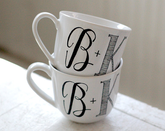 initial coffee cups
