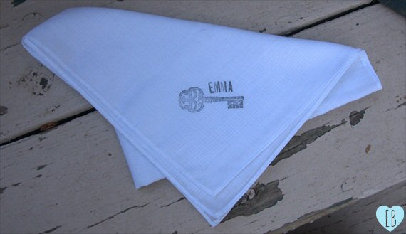 diy wedding handkerchief