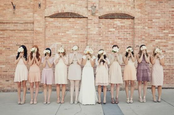 unique-bridesmaid-dresses - mismatched-bridesmaid-dresses