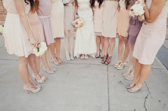 unique bridesmaid dresses - mismatched-bridesmaid-dresses