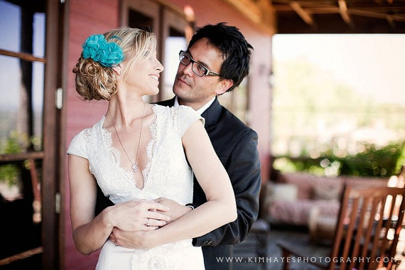 handmade wedding gown with lace
