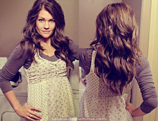 handmade wedding hairstyle - diy wavy hair tutorial