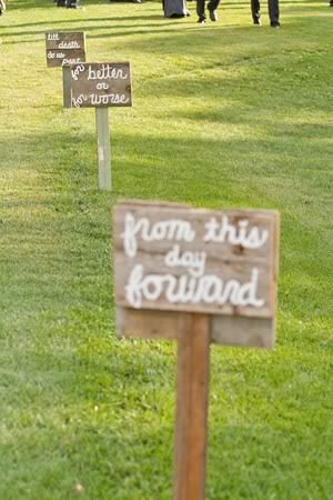 handmade wedding sign from this day forward