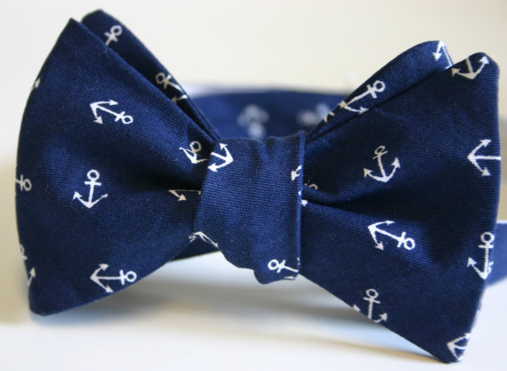 nautical wedding bow tie