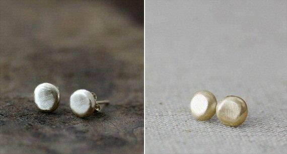 handmade wedding pebble earrings