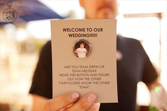 wedding team button