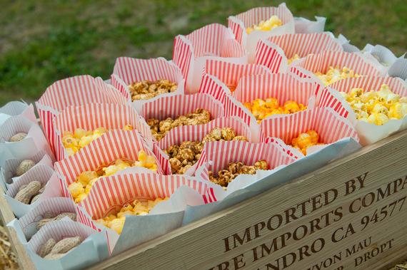 popcorn in carnival bags