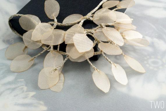 bohemian wedding necklace fiber linen