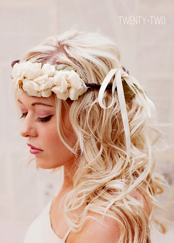 bohemian wedding hair crown