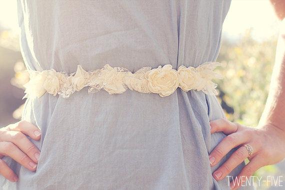 bohemian wedding sash