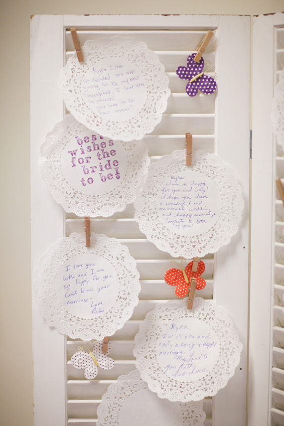 bridal shower guest book alternative