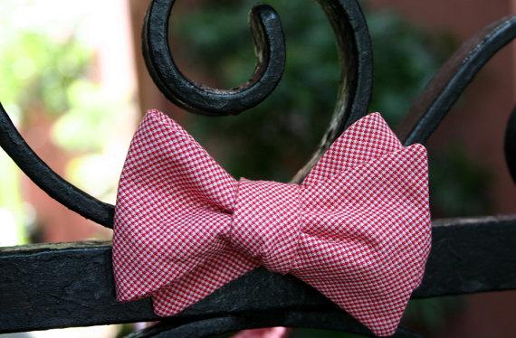 carolina red wedding bow tie