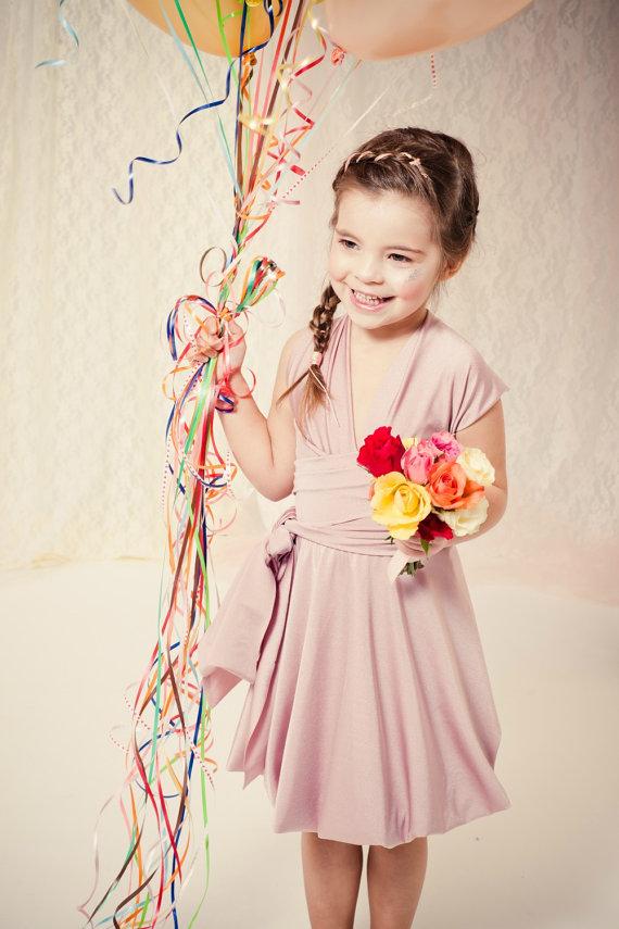 convertible flower girl dress