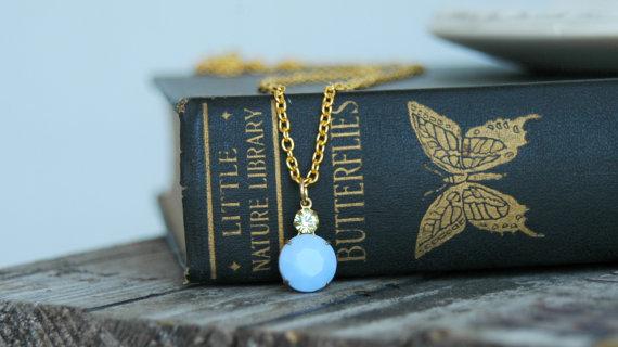 something blue necklace