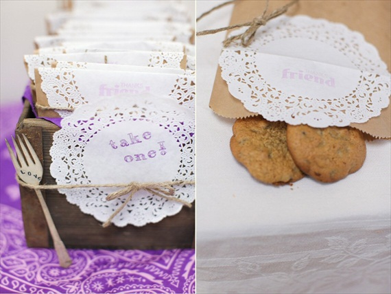 rustic bridal shower cookie favors