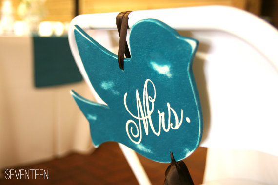 bird wedding chair decoration
