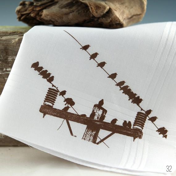 bird wedding handkerchief