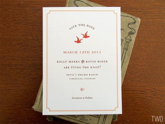 bird wedding save the date