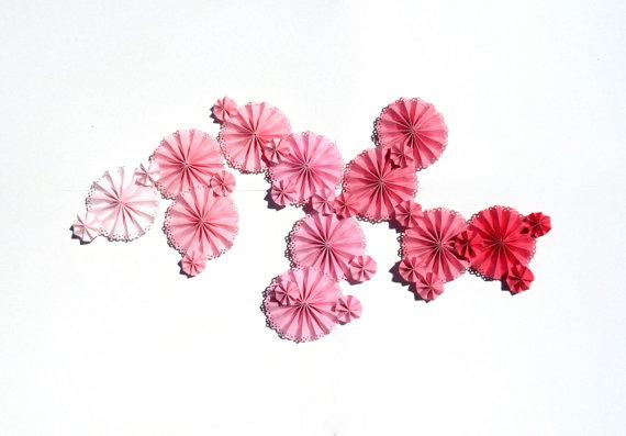 ombre wedding pinwheels
