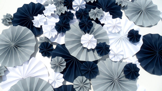 pinwheels in grey navy blue and white