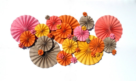 yellow and orange pinwheels