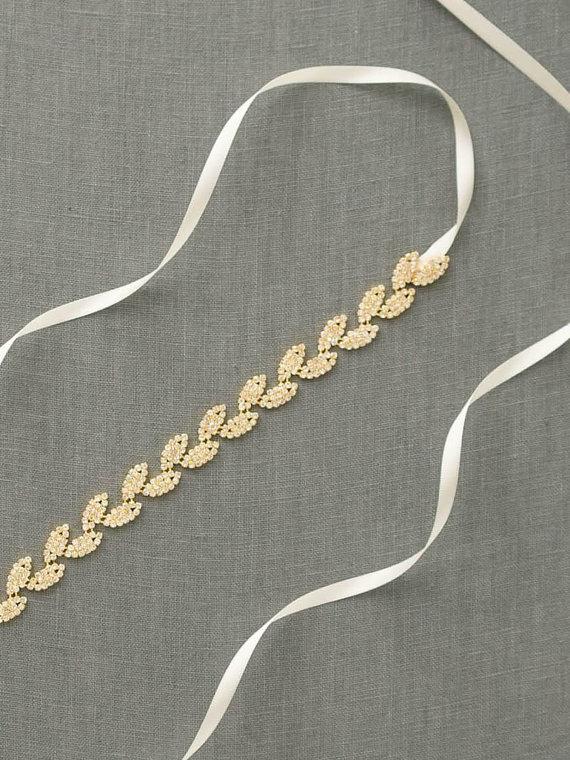 gold dress sash - fall wedding ideas on a budget