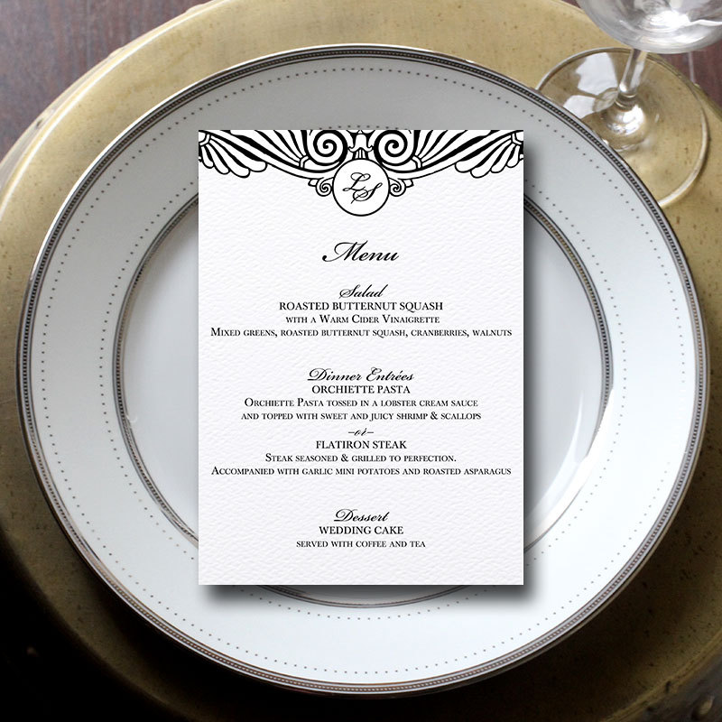 Wedding Menu Cards:  3 Reasons Why You Might Need/Want Them for Your Wedding | menu by Blush Paperie | via http://emmalinebride.com/invites/wedding-menu-cards/