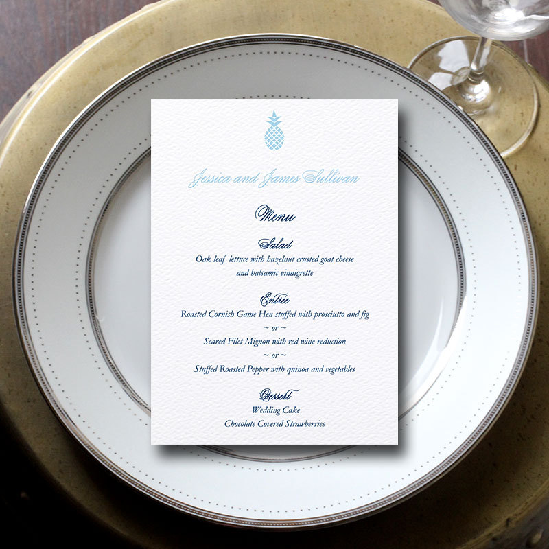 Wedding Menu Cards:  3 Reasons Why You Might Need/Want Them for Your Wedding | menu by Blush Paperie | via https://emmalinebride.com/invites/wedding-menu-cards/