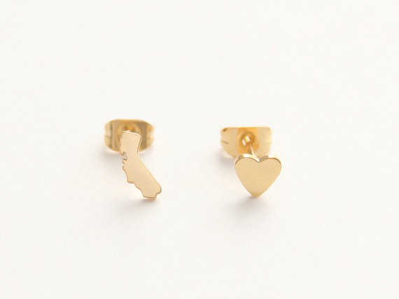 california love stud earrings