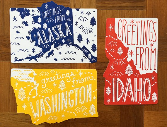 state postcards by noteworthypaperpress