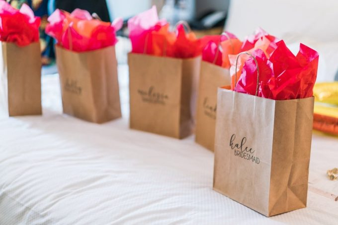 giving bridesmaid gifts