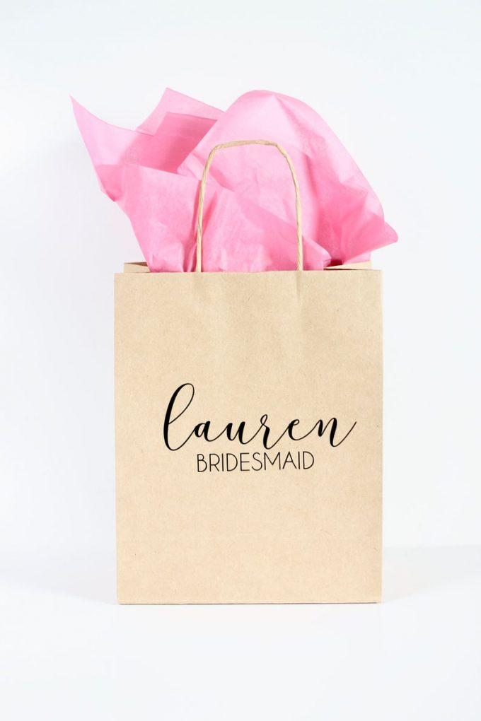 giving bridesmaid gifts