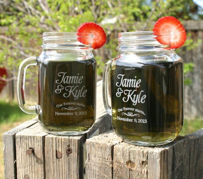 mason jar mug wedding favors