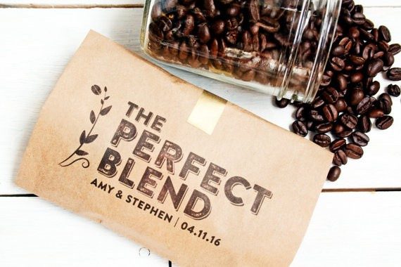 wedding favor coffee bag