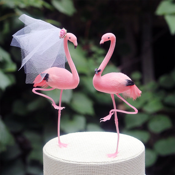 love bird cake toppers
