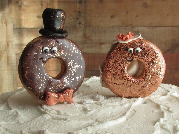 donut wedding cake toppers