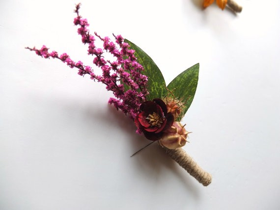 dried flower boutonniere by lovemimosafleur
