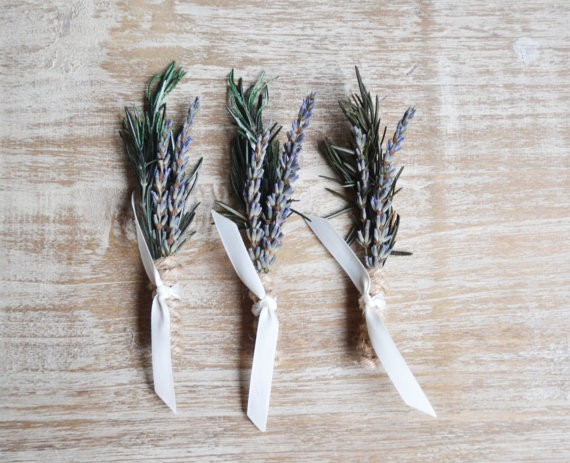 rosemary boutonnieres
