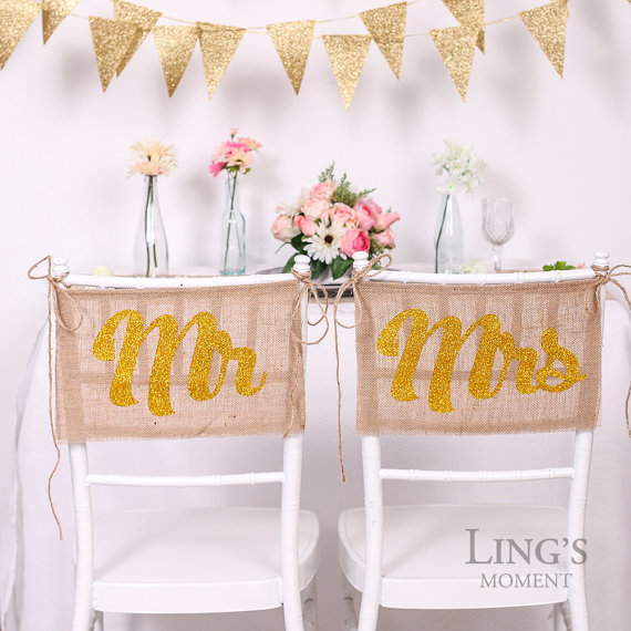 burlap chair signs by blissbylingsmoment
